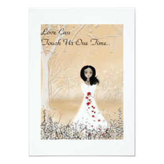 """Love Can Touch Us One Time 5"""" X 7"""" Invitation Card"""