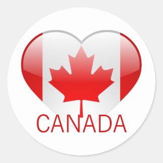 Love Canada Classic Round Sticker