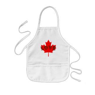 love Canada Day kid's apron
