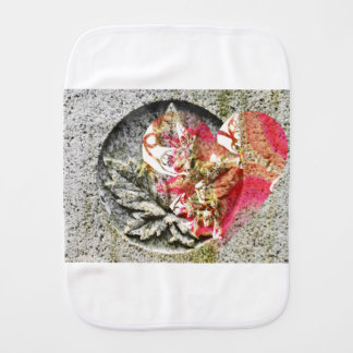 Love canada filigree fractal burp cloth