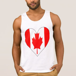 Love Canada Flag Heart T-shirt