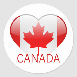 Love Canada Round Sticker