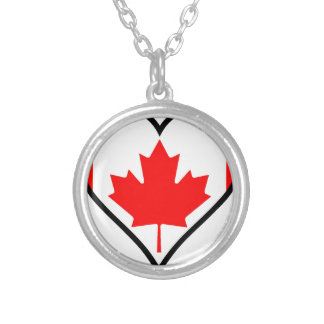 Love Canada Silver Plated Necklace