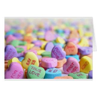 Love candies card