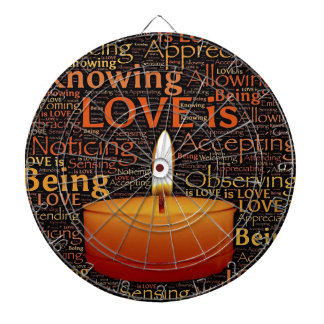 Love, Candle quote Dartboard