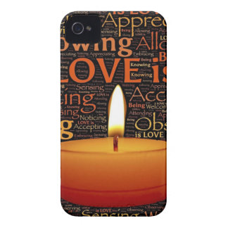 Love, Candle quote iPhone 4 Cases