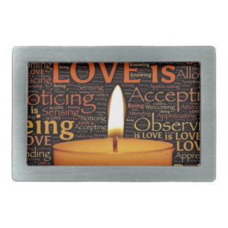 Love, Candle quote Rectangular Belt Buckle
