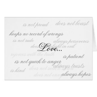 Love... Note Card