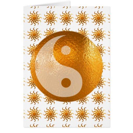 LOVE Care : Sun Energy n YIN YANG Balance Greeting Cards