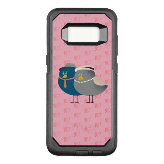 Love Cartoon Birds Funny Cute Retro Hearts Pink OtterBox Commuter Samsung Galaxy S8 Case