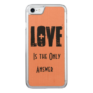 Love Carved iPhone 7 Case