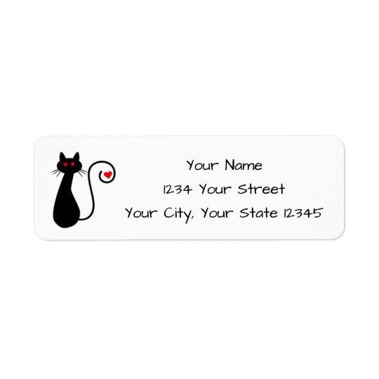 Love Cat Address Label