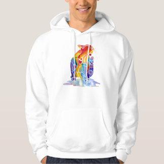 Love Cat in Rainbow Colors Hoodie