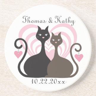 Love Cats Custom Save The Date Coaster Keepsake