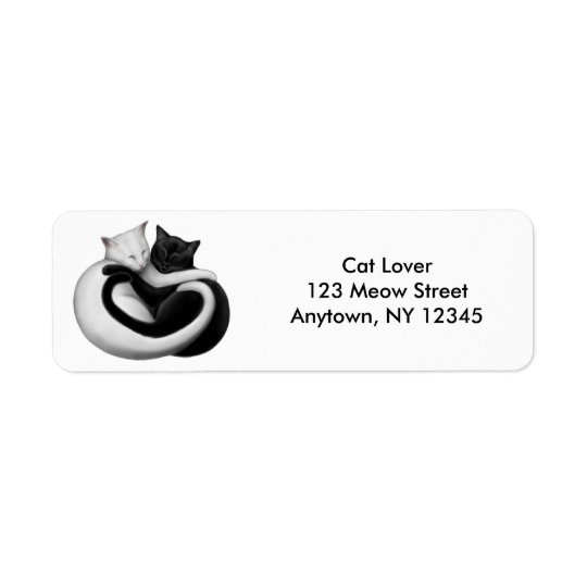 Love Cats Customizable Avery Label Return Address Label
