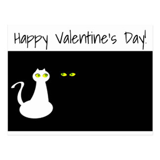 Love Cats Happy Valentine's Day Postcard