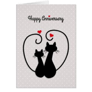 Love Cats Happy Wedding Anniversary Card