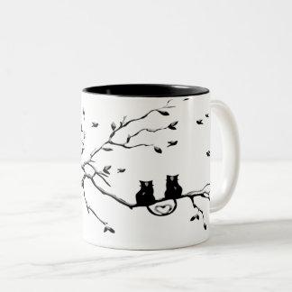 Love Cats Two-Tone Coffee Mug