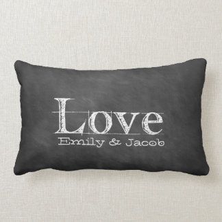 Love Chalkboard Personalized Pillow