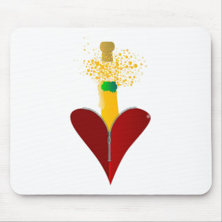 Love Champagne Mouse Pad