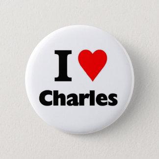 Love charles 2 inch round button