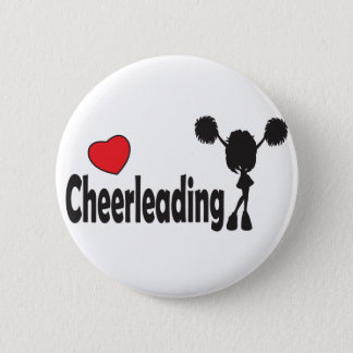 Love Cheerleading 2 Inch Round Button