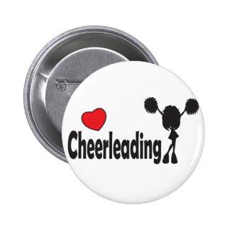 Love Cheerleading 2 Inch Round Button