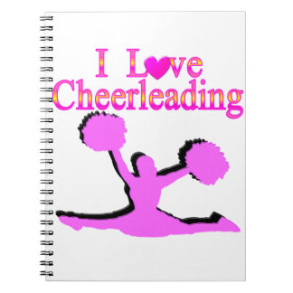 LOVE CHEERLEADING SPIRAL NOTEBOOK