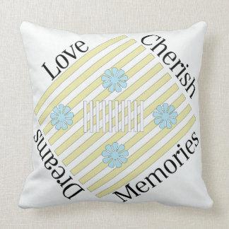 Love, Cherish, Dreams, Memories Throw Pillow