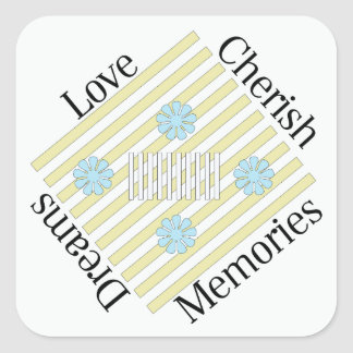 Love, Cherish, Memories, and Dreams Stickers