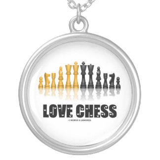 Love Chess (Chess Attitude) Silver Plated Necklace