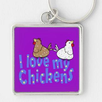 Love Chickens Keychain