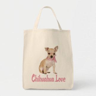 Love Chihuahua Puppy Dog  Canvas Tote Bag