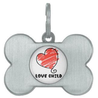 Love Child Pet Name Tag