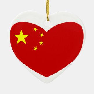 Love China Ceramic Ornament