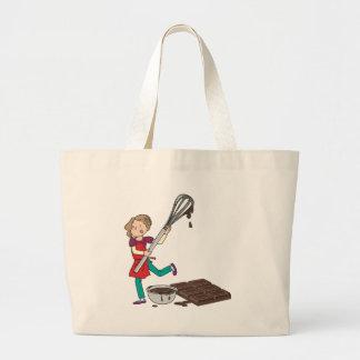 Love Chocolate Large Tote Bag