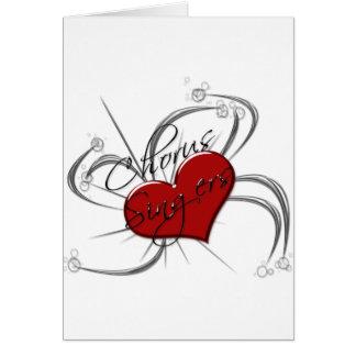 Love Chorus Singers Heart Card