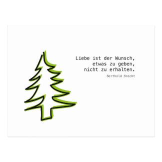 Love & Christmas Postcard