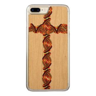 Love circles cross iPhone 7 plus Carved iPhone 8 Plus/7 Plus Case