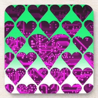 love circuit, violet beverage coaster