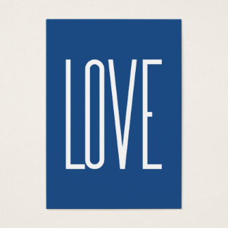 Love Classic Blue Business Card
