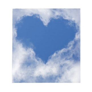 Love Cloud on Blue Sky Romantic Notepad