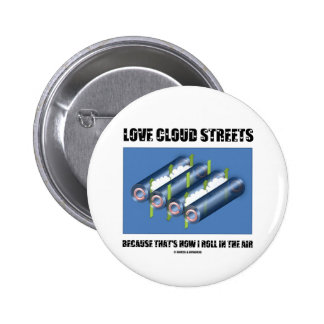 Love Cloud Streets Because That's How I Roll Air Pinback Button
