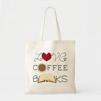 Love, Coffee, Books Budget Tote Bag