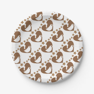 Love coffee paper plate