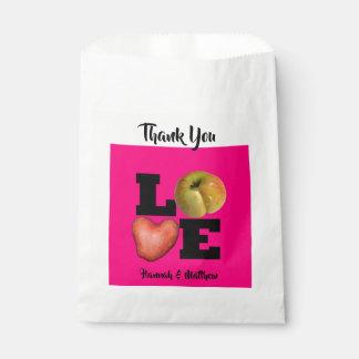LOVE Collection Apple Potato Pink Favor Bag
