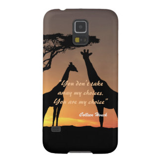 Love Colleen Houck quote giraffes nature design Galaxy S5 Cases