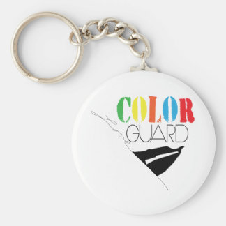 Love Color Guard Button Key Chain