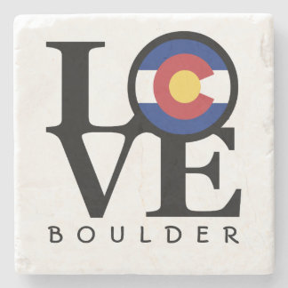 LOVE Colorado Boulder Stone Coaster