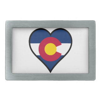 Love Colorado Rectangular Belt Buckle